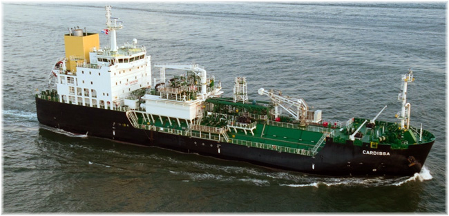 Shell's Rotterdam LNG bunker tanker Cardissa, delivered this summer (Click to enlarge)