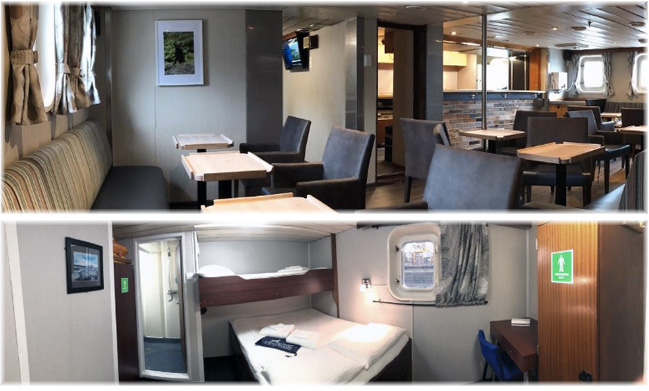 Heritage Expeditions' Spirit of Enderby - Bar & Lounge / Superior Class Cabin #411