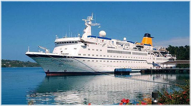 The first Spirit of Adventure (2006 - 12) was the ex German Berlin (Click to enlarge)