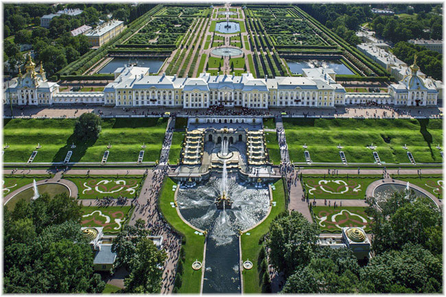 The Grand Palace at Peterhof, St. Petersburg