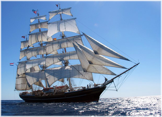 The 76-metre, fully-rigged sailing clipper Stad Amsterdam