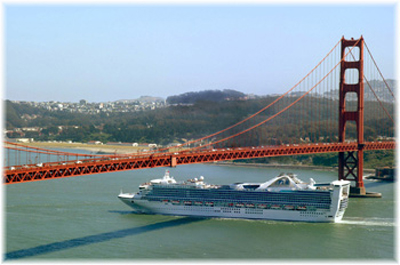 The Star Princess. In this image she is at San Francisco