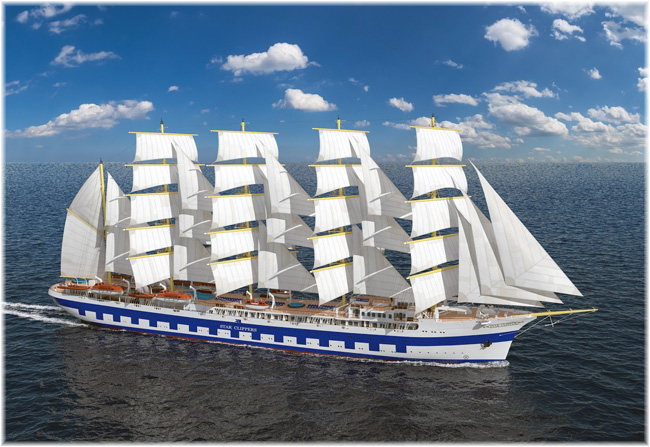 Star Clippers' new ship Flying Clipper (Illustration courtesy of Brodosplit Shipyard)