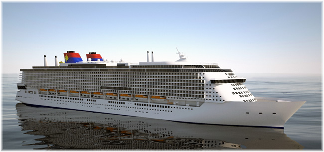 Star Cruises' new class ship (Artist impression courtesy Star Cruises)