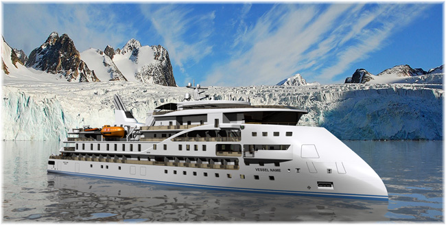 The new expedition vessel design from Sunstone Ships of Miami