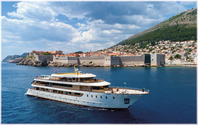 MS Swallow out of Dubrovnik (Emerald Waterways - Lewis Quigley - ST & EW Trade Team)