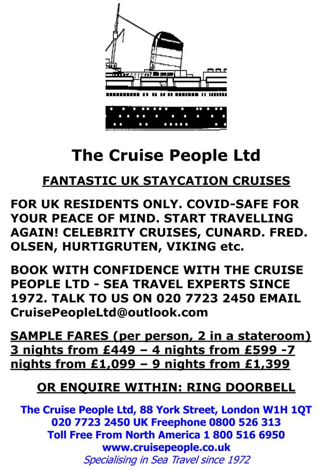 The Cruise People Backs UK Staycation Cruises