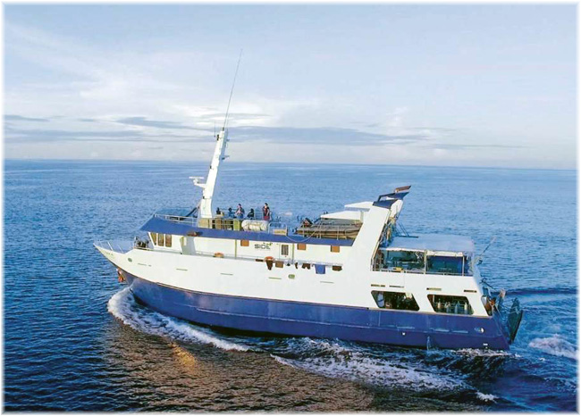 The MV Taka is a luxurious 30-metre live-aboard vessel - Solomon Islands Discovery Cruises