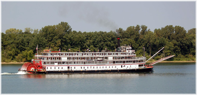 The Delta Queen was built by Scottish shipbuilders Denny of Dumbarton in 1926 and assembled in the United States