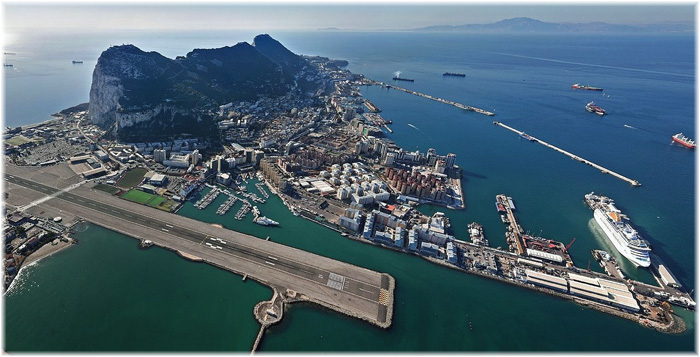 The Port of Gibraltar (Aerial View from the North West - Source: Commons.wikimedia.org)