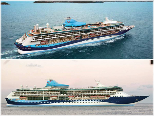 Marella Discovery (Former The TUI Discovery, ex Splendour of the Seas - courtesy Thomson Cruises) (Click to enlarge)