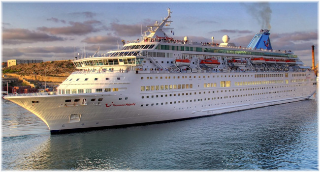 The 1,462-berth Thomson  Majesty (Courtesy cruisemapper.com) (Click to enlarge)