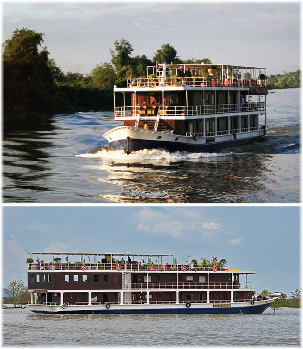 Sisters riverboats Toum Tiou II and I - Mekong River