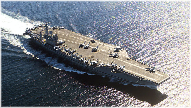The USS Nimitz off of Victoria, BC