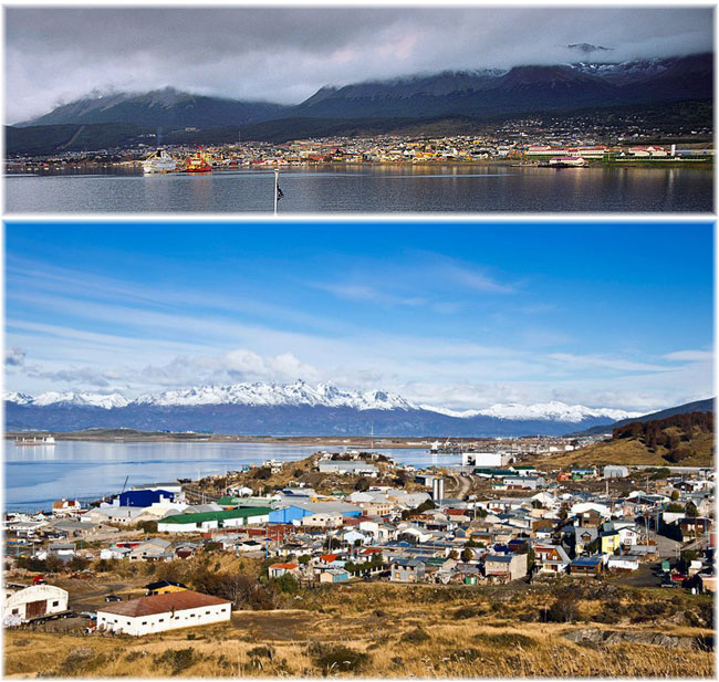 Ushuaia, Argentina  (Photo above credit Jerzy Strzelecki at Wikipedia)