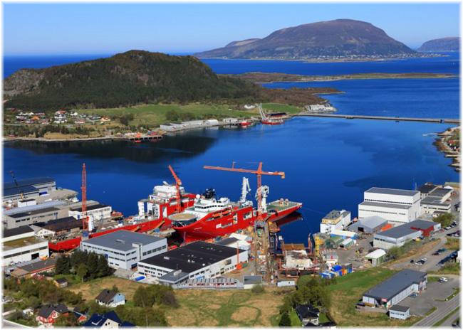 VARD Shipyard, Norway (Click to enlarge)