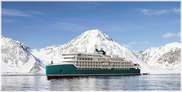 Swan Hellenic is making a return to the cruise business with two new expedition ships (Artist impression, July 2020)