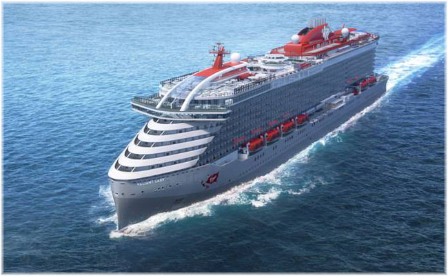 Rendering of Virgin Voyages' second ship, Valiant Lady (Courtesy Virgin Voyages)