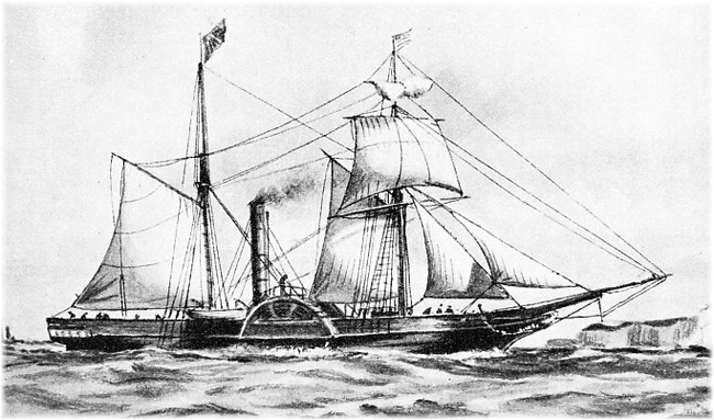 A vessel of the type of Cunard's Unicorn (Click to enlarge)
