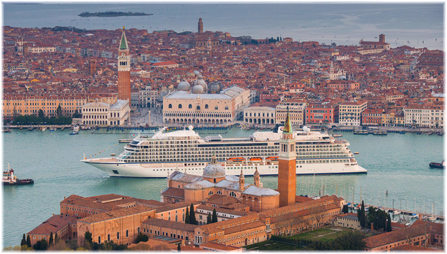 The Viking Sea in Venice (Courtesy Viking Ocean Cruises) (Click to enlarge)