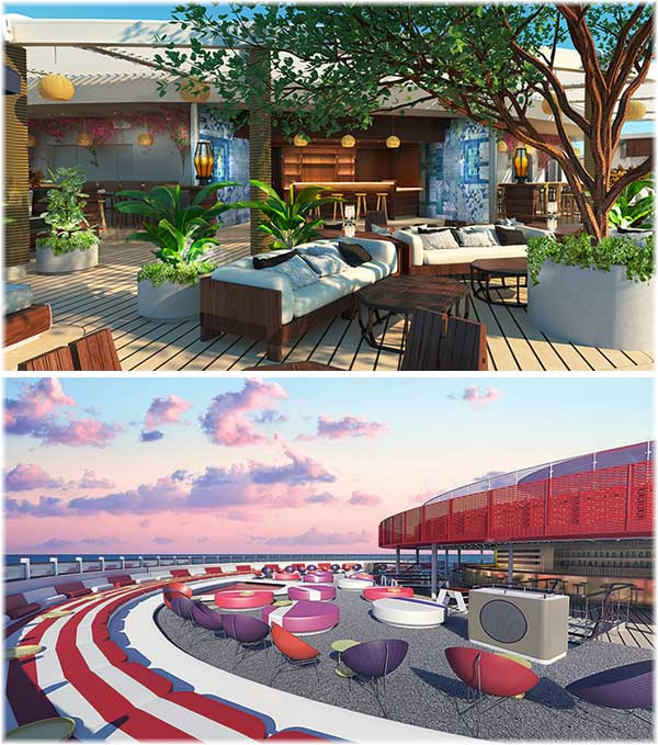 Scarlet Lady: The Dock by Roman & Williams - Athletic Club by Concrete Amsterdam (Courtesy Virgin Voyages)