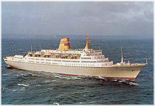NAL's Vistafjord 1973 became Cunard Line's Caronia
