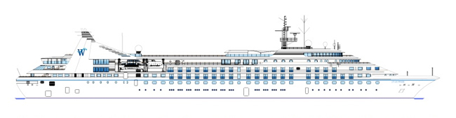 The Star Breeze, Star Legend and Star Pride will be lengthened increasing capacity for each ship from 212 to 312 passengers