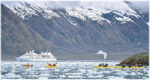 Windstar Cruises' ship in Alaska