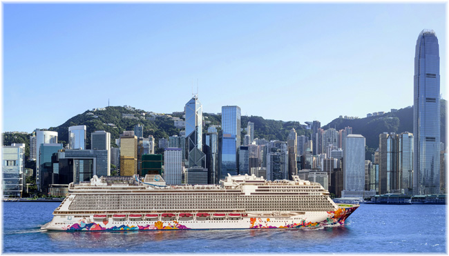 The World Dream at Hong Kong (Courtesy Genting Cruise Lines)