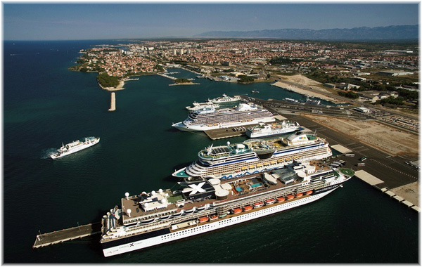 Aereal view of the port of Zadar (Source: MedCruise)