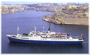 Caledonian Star in La Valletta - Malta. Currently the ship is the National Geographic Endeavour