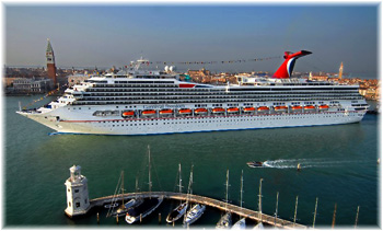 The Carnival Freedom in this image in Venice