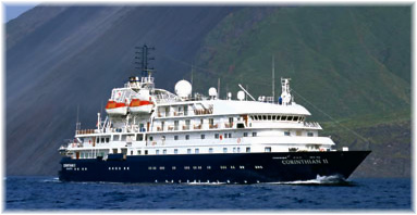 The Corinthian II for Travel Dynamics International is currently the Sea Explorer