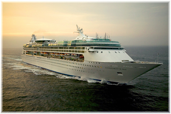 The Enchantment of the Seas was lengthened at Rotterdam in 2005