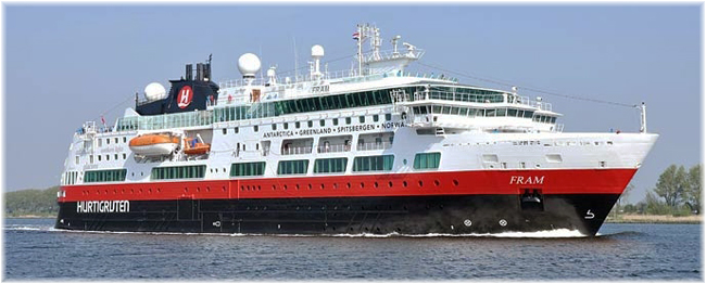 The Hurtigruten's 254-berth Fram