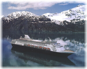 Holland America Line's ship in Alaska