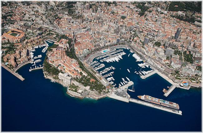 Monaco - Monte Carlo (Aerial view courtesy Société d'Exploitation des Ports de Monaco)