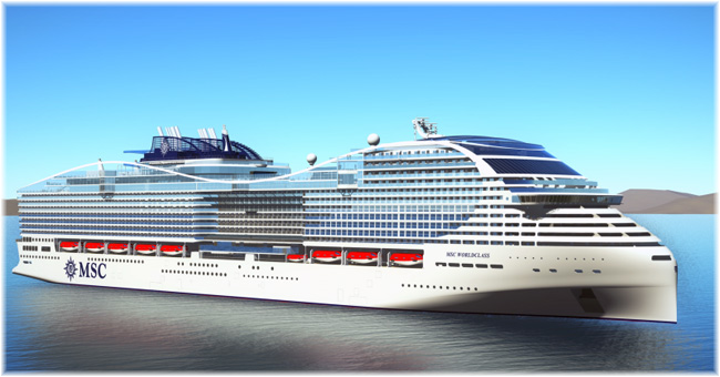 MSC World Europa (Rendering courtesy MSC Cruises)