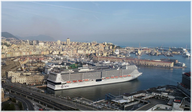 MSC Grandiosa at Genoa - August 16, 2020