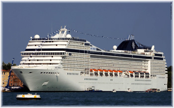 The MSC Musica, one of the ships that utilised the Port of Santos passenger terminal this year