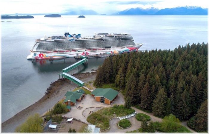 Norwegian Joy at Icy Strait Point (Courtesy Norwegian Cruise Line)