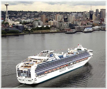 The Sapphire Princess at Seattle