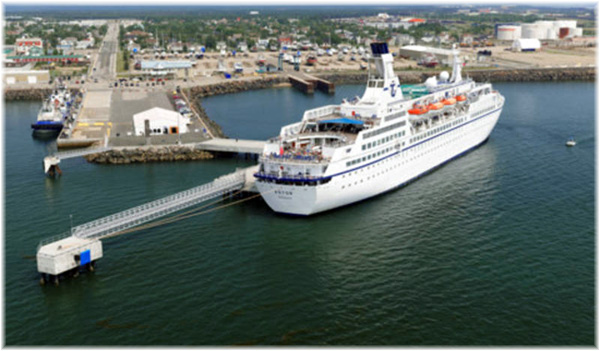 The Port of Sept Iles cruise terminal was opened in 2010 (Click to enlarge)