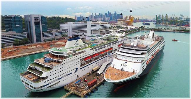 Columbus and Vasco da Gama at Singapore, April 2019