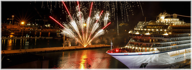 The christening in Livorno of Viking Cruises' Viking Orion
