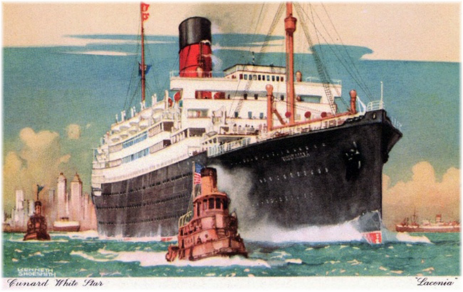 2023 marks 100 years since RMS Laconia completed Cunard's first World Voyage