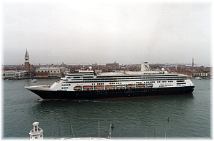 Holland America Line's Zaandam, in this image at Venice